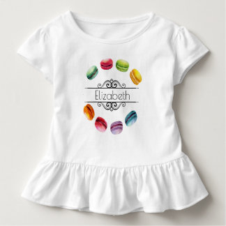 Macarons In A Circle | French Pastry in Watercolor Toddler T-Shirt