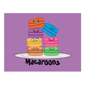 Macaroon Macaroons Cookie French sweet dessert Postcard