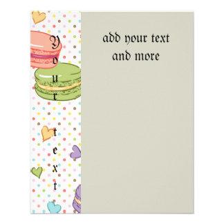 "Macaroon,multi colour,polka dot,hearts,pattern,fun 4.5"" x 5.6"" flyer"
