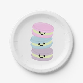 Macaroon Paper Plates