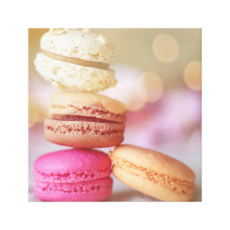 Macaroons on canvas