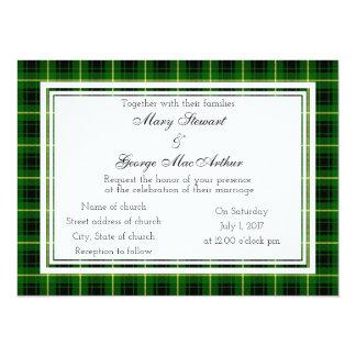 MacArthur Scottish Wedding Invitation