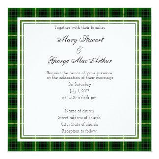 MacArthur Scottish Wedding Square Invitation
