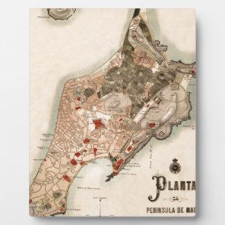 Macau 1889 plaque