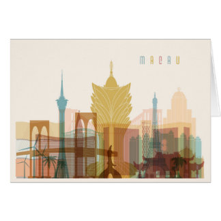 Macau, China | City Skyline Card