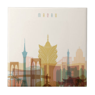 Macau, China | City Skyline Ceramic Tile