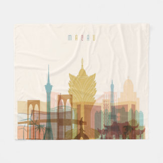 Macau, China | City Skyline Fleece Blanket