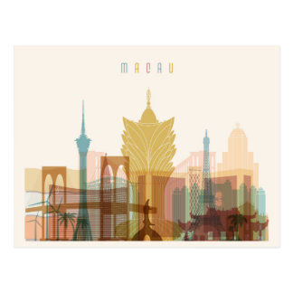 Macau, China | City Skyline Postcard