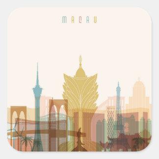 Macau, China | City Skyline Square Sticker
