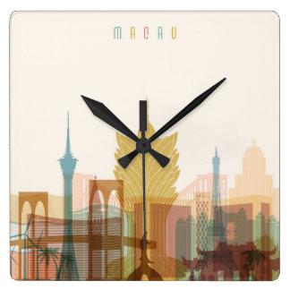 Macau, China | City Skyline Square Wall Clock