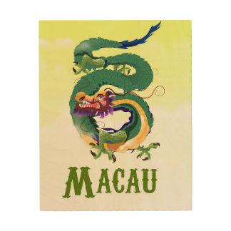Macau China Vintage style travel poster
