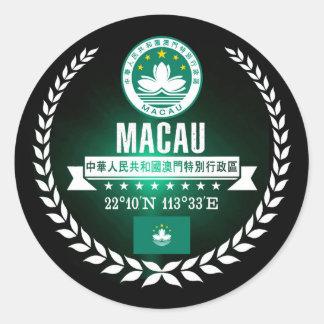 Macau Classic Round Sticker