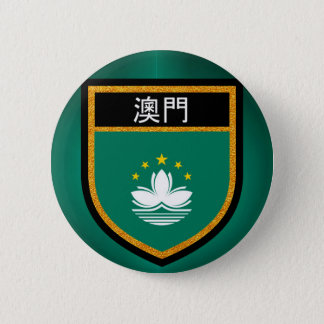 Macau Flag 6 Cm Round Badge