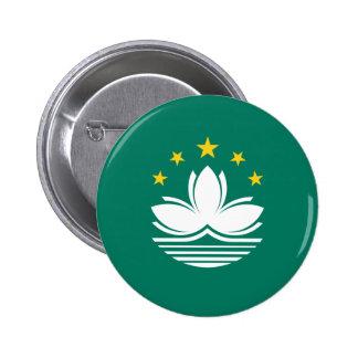 Macau Flag 6 Cm Round Badge