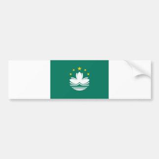 Macau Flag Bumper Sticker