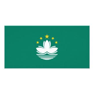 Macau Flag Custom Photo Card