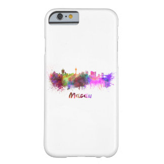 Macau skyline in watercolor barely there iPhone 6 case