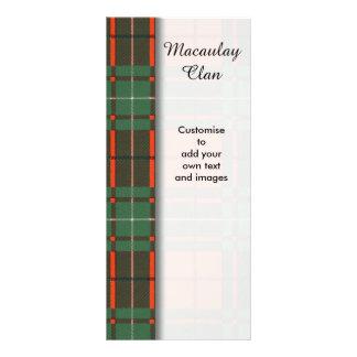 Macaulay clan Plaid Scottish tartan Customized Rack Card