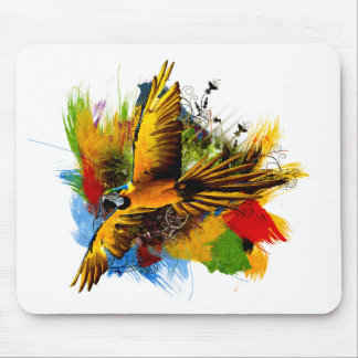 Macaw bird mousepad