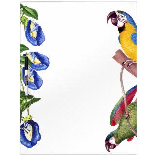 Macaw Birds Wildlife Flowers Dry Erase Board