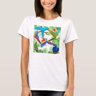 Macaw Jungle Ladies Babydoll T-Shirt