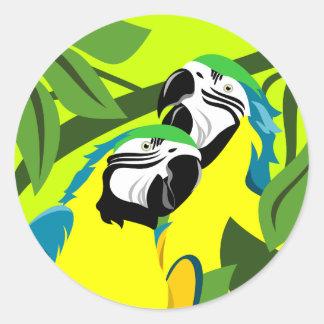 Macaw Parrot Bird Stickers