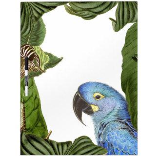 Macaw Parrot Bird Wildlife Leaves Dry Erase Board