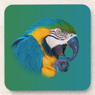 Macaw Parrot, Customizable Cork Coaster