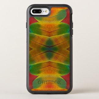 Macaw parrot feather kaleidoscope OtterBox symmetry iPhone 8 plus/7 plus case