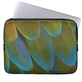 Macaw parrot feather pattern detail laptop sleeve