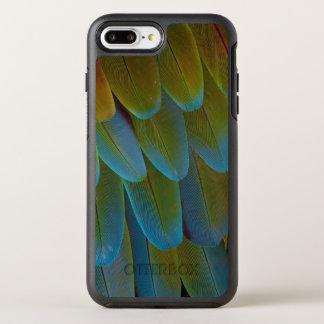 Macaw parrot feather pattern detail OtterBox symmetry iPhone 8 plus/7 plus case