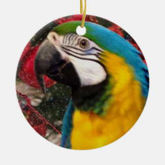 Macaw Parrot Holiday Ornament
