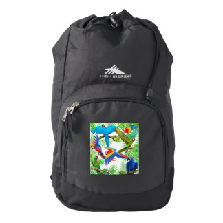 Macaw Parrot Jungle Backpack
