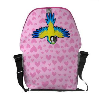 Macaw / Parrot Love Messenger Bag