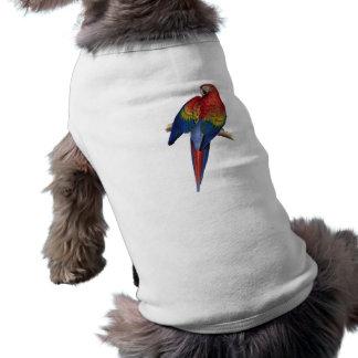 Macaw Parrot Red Yellow Blue Green Bird Sleeveless Dog Shirt