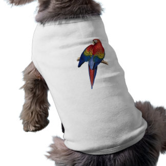 Macaw Parrot Red Yellow Blue Green Bird Sleeveless Dog Shirt