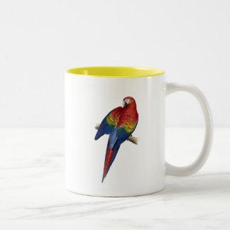 Macaw Parrot Red Yellow Blue Green Bird Two-Tone Mug