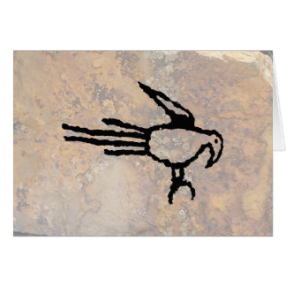 Macaw Petroglyph, Boca Negra Canyon, New Mexico Card
