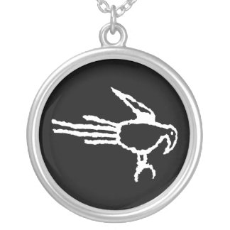 Macaw Petroglyph, Boca Negra Canyon, New Mexico Silver Plated Necklace