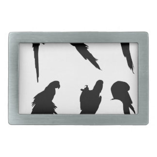 Macaw Silhouette Set Belt Buckles