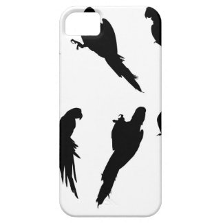 Macaw Silhouette Set iPhone 5 Cover