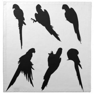 Macaw Silhouette Set Napkin