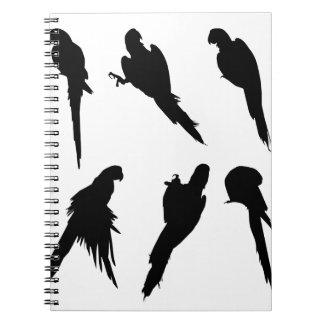 Macaw Silhouette Set Notebook