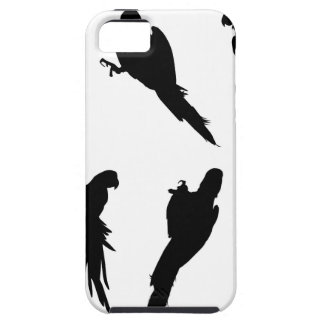 Macaw Silhouette Set Tough iPhone 5 Case
