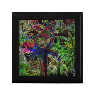 Macaws In Tropical Paradise At Night Gift Box