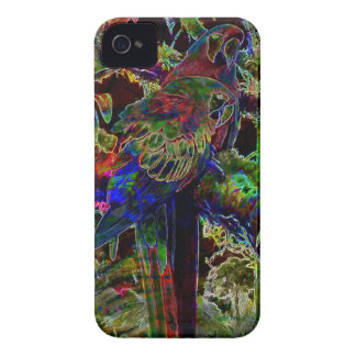 Macaws In Tropical Paradise At Night iPhone 4 Case-Mate Cases