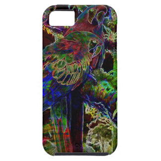 Macaws In Tropical Paradise At Night iPhone 5 Covers