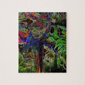 Macaws In Tropical Paradise At Night Jigsaw Puzzle