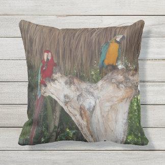 Macaws Outdoor Throw Pillow