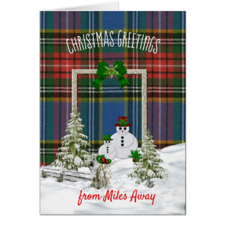 MacBeth Ancient Tartan Christmas Card